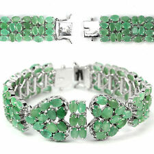 "Emerald Statement Fine Gemstone Bracelets 7 - 7.49"" Length"