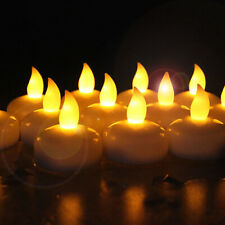 Novelty Place LED Floating Candles - Flameless Tea Lights Warm Yellow Battery