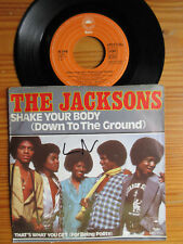 """7"""" MICHAEL JACKSON & THE JACKSONS : SHAKE YOUR BODY / THAT'S WHAT YOU GET  1979"""