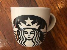 NEW 2017 Starbucks Mug 14 oz Coffee Cup  Large Siren Mermaid Black/White