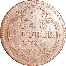 German State Koln Cologne 1/4 Stuber 1766 EG KM#161 Maximilian Friedrich (4392)
