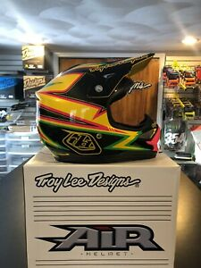 Troy Lee Designs Air Charge Offroad MX Dirt Bike Helmet Yellow Black Medium