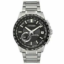 Citizen (CC3005-85E) Eco-Drive Stainless Steel Satellite Wave World Time Watch.