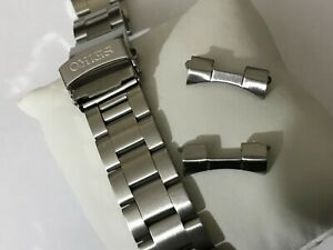 20MM CURVE LUGS SEIKO OYSTER S.STEEL BRUSHED GENTS WATCH STRAP BAND BRACELET NEW