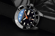 ARAGON Highly Revered 42mm DiveMaster 20ATM Sapphire Black AUTOMATIC Watch A199B
