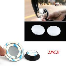 2PCS 360° Universal Car Convex Wide Angle Blind Spot Mirror Rear View Security
