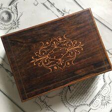 Coffret Charles X 1820 Marqueterie Palissandre et Citronnier XIXè - Antique Box