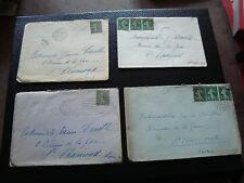 FRANCE - 4 enveloppes 1918 (cy60) french