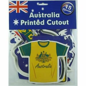 Australia Day Party Supplies Varied Printed Cutout Decorations (15 Pieces)
