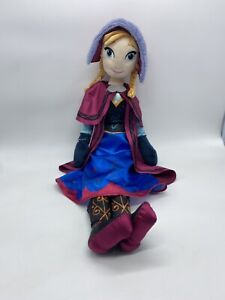 """Disney Store Frozen 20"""" inch Anna Plush Soft Doll With Jacket"""