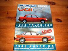 CAR MAGAZINE JUL-1984 - Audi Quattro, Jaguar XJS-C, Lotus Esprit Turbo, Senator