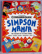 The Simpsons Mania; The History of TV's First Family. Spiral Paperback Book