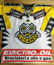 Kappa HC LUGANO Vintage SWITZERLAND ICE HOCKEY SHIRT JERSEY TRIKOT NHL FIAT