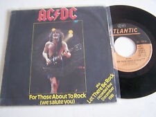 SP 2 TITRES VINYL  45 T AC/DC LIVE , FOR THOSE ABOUT TO ROCK . 1982 . ALLEMAGNE