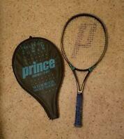 Prince Graphite Sport Widebody Power Tennis Racket No. 3 Grip 4 3/8 with Case
