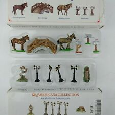 2 Liberty Falls Americana Collection Miniature Accessory Sets 6 pc Ah50 Ah51