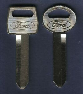 2 1967-1989 Ford Key Blanks Ignition Door Trunk Bronco Pickup Truck