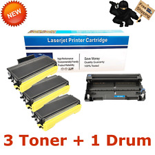 3PK TN650 Toner 1PK DR620 Drum For Brother MFC-8890DW MFC-8480DN HL-5340D 5370DW