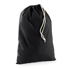 5 x 100% BLACK PLAIN COTTON DRAWSTRING Bags CANVAS TOY STORAGE BAG STORY LARGE
