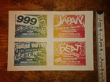 ORIGINAL VINTAGE  4 CONCERT FLYER  1981- 999 - JAPAN - P.MURRAY - THE BEAT