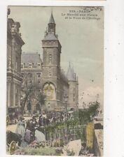 Paris Marche Aux Fleurs & Tour de l'Horloge France [229] 1905 Postcard 801a