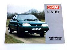 1995 FSO Caro Poland Polonez Original Car Sales Brochure Catalog