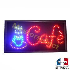 Tableau Panneau 25x38cm Enseigne Pub Lumineuse A Leds Pour Commerçant CAFE