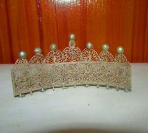 Antique Silver Crown Rare Silver TAJ ZAR Handicraft Egyptian Zar 1936's تاج زار
