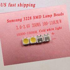 100piece for Samsung LED Strip repair ,3228 3V SMD Lamp LEDs Cool White Light