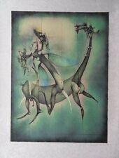 BOUCHE Frédéric : Ballade equestre surréaliste - LITHOGRAPHIE originale signée