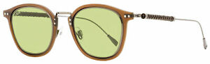Tod's Woven Leather Sunglasses TO0218 46N Gunmetal/Brown 47mm 218