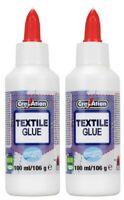 Lot de 2 Colle spéciale Tissu  Textile 2x100ml pour divers sorte de textile