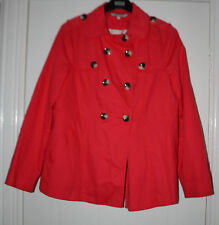 LADIES RED HERRING DOUBLE BRESTED SHORT JACKET RED SIZE 14 USED