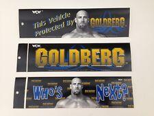 Set of 3 Bill Goldberg Bumper Stickers 90's Vintage WCW Wrestling Sticker WWE