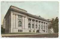 Public Library Seattle Washington Street View c1910s Postcard