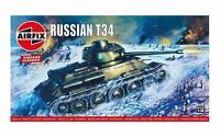 Airfix Russian T34 Medium Tank 1/76 Model Kit