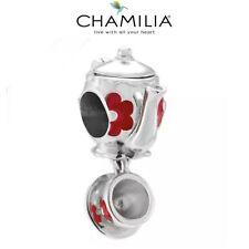 Genuine CHAMILIA 925 Silver, DISNEY Alice Wonderland TEAPOT Charm Bead