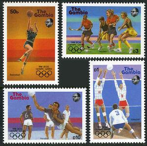 Gambie 697-700, Mi 706-709 ,Mnh.summer Olympiques,Seoul.basketball,Handball,