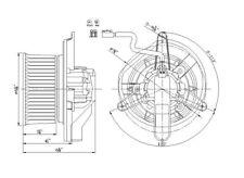 HVAC Blower Motor Front TYC 700168