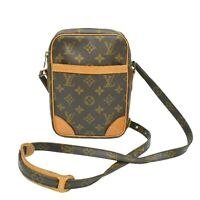 Louis Vuitton Danube M45266 Monogram Crossbody Shoulder Bag Brown Gold France