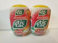 TWO PACK Tic Tac Fresh Fruit Mints FRUIT ADVENTURE 200 Mints Ea  3.4 Oz 08/2020
