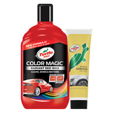 Turtle Wax Colour Magic Restorer Car Polish + Scratch Remover Set - RED