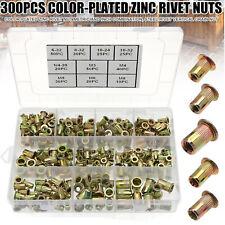 300 Pcs Zinc Steel Rivet Nut Kit Rivnut Nutsert Assort 150x Metric 150x Sae