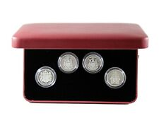 2004 50-Cent .925 Sterling Silver Coin Set - 4 Coin Set - Coat of Arms - RCM