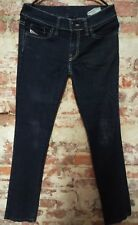 """DIESEL INDUSTRIES """"Liv""""  Straight Leg Jeans Size 27 x 27 made in Italy"""