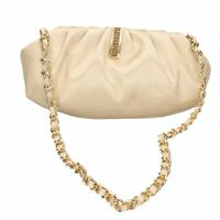 borsa donna MADE IN ITALY pochette oro raso DT757