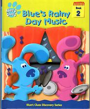 Blue's Clues - Rainy Day Music Book #2 of Discovery Series Hard Cover 2000  LN