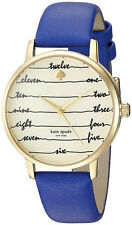 Kate Spade KSW1238 New York Beige Dial Blue Leather Strap Women's Watch