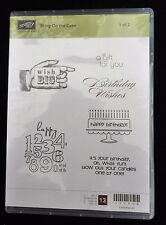 2011 Stampin Up BRING ON THE CAKE 6 pc SET 1 CLEAR MOUNT RUBBER STAMP SET