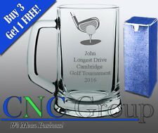 Personalised Engraved Large Glass Tankard Golf Award Trophy Sport Tournament
